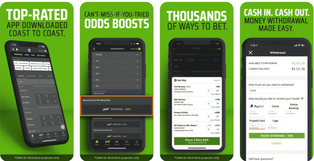Features of Draftkings App